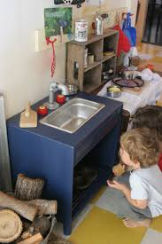 Play Kitchen From Old Furniture by The Brooding Hen Simple Play Kitchen Sink