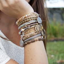 stacking bracelets alex and ani depths of the and rulers of the woods bangles