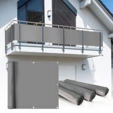 sichtschutz balkon grau pvc balkon sichtschutzstreifen für den garten ebay