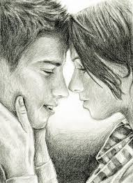 photos a pencil drawing of a couple on bed drawing art gallery