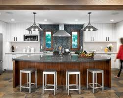 Brown Gray Metal Slate Backsplash by 25 Best Slate Floor Kitchen Ideas U0026 Remodeling Pictures Houzz