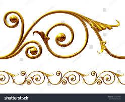 golden ornament element create frieze stock illustration 211024084