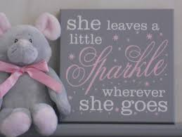 Gray And Pink Nursery Decor by She Leaves A Little Sparkle Wherever She Goes Nursery Signs
