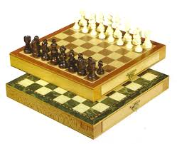 10 inch magnetic chess set with regular or green wood gevin