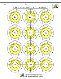 Free Time Worksheets Free Times Table Worksheets Circle Times Tables 1 To 12 1 Gif