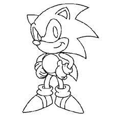 Coloriage Coloriage Sonic sonic en ligne et imprimer gratuit