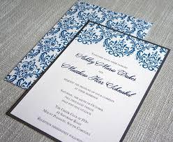 Damask Wedding Invitations Blue And Gray Damask Wedding Invitation U2013 Scotti Cline Designs