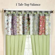 Tab Curtains Pattern Tab Curtains Grommet Curtains Vs Tab Top Curtains Which Is Right
