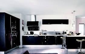 deco cuisine noir et blanc contemporain idee deco cuisine et blanc vue fen tre in noir