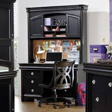 holland house petite louis 2 black computer pedestal desk u0026 hutch