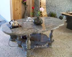 furniture marvelous birma stone coffee table with oval shape
