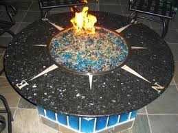 Firepit Glass Copper Blue Glass And Fireplace Design Fireplace Glass