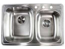 Top Kitchen Sink 33 Inch Top Mount Drop In Stainless Steel Bowl Kitchen