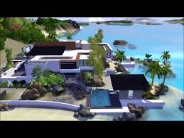 Home Design For The Sims 3 Tropical Seaside House The Sims 3 No Cc Dwnl Link Youtube