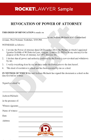 power of authority template of power of attorney create a deed of revocation