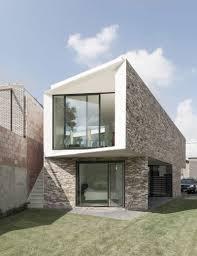 modern brick house modern brick facade contemperory rustic home designs small house