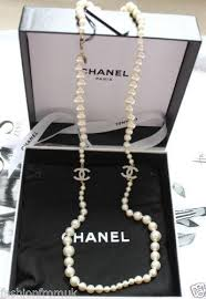 fashion jewelry pearls necklace images Chanel costume jewellery ebay JPG