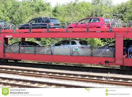 car train on the way to the island of sylt stock photo image