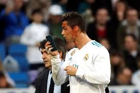 Cristiano Ronaldo Meme - cristiano ronaldo used a phone during a game and there s already
