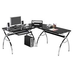 corner computer desk with keyboard tray corner computer desk black glass l shaped w keyboard tray and