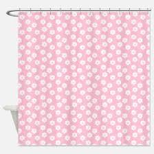 Pink Flower Shower Curtain Pale Pink Shower Curtains Pale Pink Fabric Shower Curtain Liner