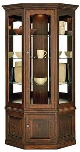 lighted curio cabinet oak corner curio cabinet oak curio cabinets all craftsman listing