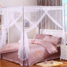Canopy Bed Curtains Queen 150x200cm Palace Mosquito Netting Four Corner Bed Curtain Canopy