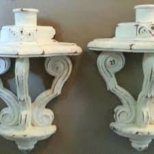 sconce shabby chic spindle candle holder set large rusty