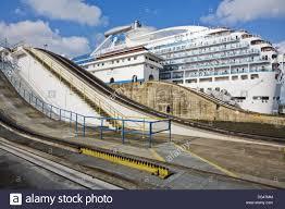cora canap coral princess cruise ship gatun locks panama canal panama stock