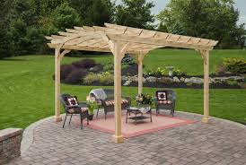 Aluminum Pergola Kits by Wood Pergola Kits 10x12 Amish Cedar Yardcraft Lancaster County Pa