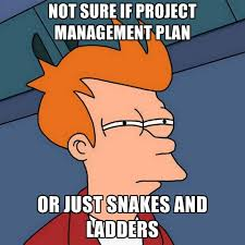 Project Management Meme - not sure if project management plan or just snakes and ladders