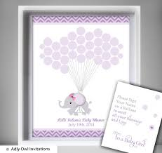 purple guest book purple elephant guest book printable alternative and girl elephant