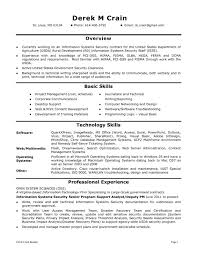 Junior Business Analyst Resume Information Security Resume Sample Example It Security
