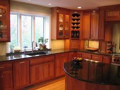 kitchen color ideas with cherry cabinets cherry kitchen cabinets black granite gen4congress com