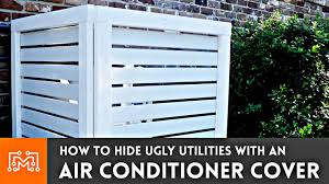 Air Conditioner Covers Interior How To Make An Air Conditioner Cover Fence Youtube
