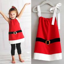 christmas cotton dresses for girls ebay