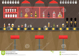 vector bar counter flat stock vector image 59002377