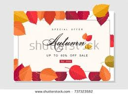 autumn sale background template poster card stock vector 728248891