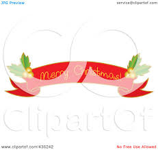 merry christmas ribbon royalty free rf clipart illustration of a merry christmas