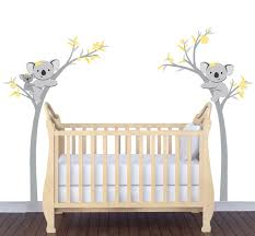 silhouette baby bear wall sticker stickers clipgoo amazon com cute koala bear tree branches wall stickers cartoon childrens decal yellow and gray