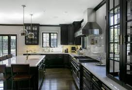 contemporary kitchen design classic furniture black appliances