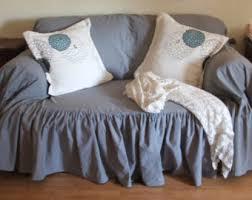 Shabby Chic Sofa Slipcover by Shabby Chic Slipcover Throw By Mythymecreations On Etsy