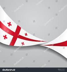 Georgian Flag Georgian Flag Wavy Abstract Background Vector Stock Vektorgrafik