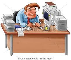 travaux de bureau désordre bureau travaux asseoir beaucoup ouvrier