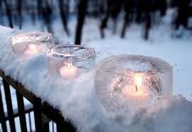creating winter magick with ice candles wax poetic blue