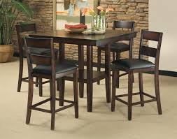 Counter High Dining Room Sets by Standard Furniture Pendwood 5 Piece Contemporary Pub Height Table
