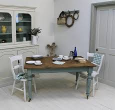 Painted Kitchen Tables Distressed Painted Pine Kitchen Table - Painting kitchen table