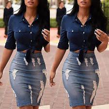 denim skirts unbranded denim knee length skirts for women ebay