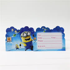 online get cheap birthday party invitation card minion aliexpress