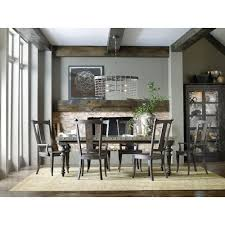 Hooker Furniture Vintage West  Piece Dining Table Set With Splat - Hooker dining room sets